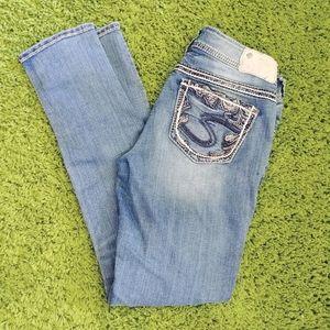 Silver Suki Mid Pencil skinny jeans size 28